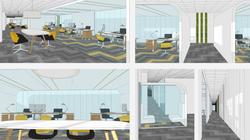 Varias imágenes de las oficinas proyecto