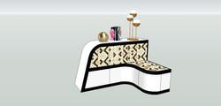 Diseño mueble multiusos. Banco y almacenamiento.