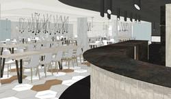 Detalle de la barra Cafetería hotel Eurostars Central