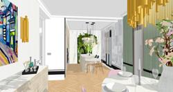 15 Vista general del salón hacia la cocina