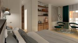 Vista del dormitorio