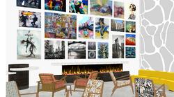 Galería de arte del lobby