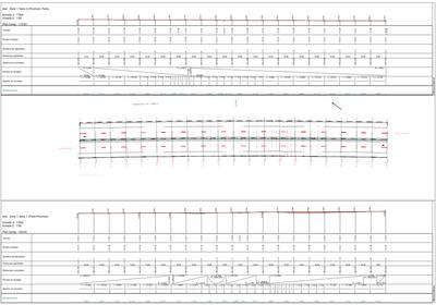 Plans et profils de reprofilage de voies d'autoroute