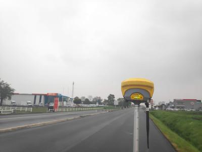 Chantier de marquage routier