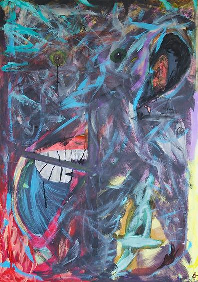Monkey of Darkness 120x170 Akryl.jpg