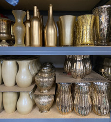 Gold containers/vases