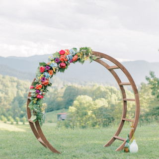 Moon arch floral example