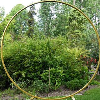 Gold metal hoop