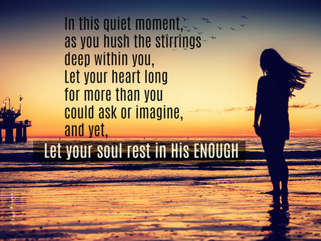 Rest in His Enough