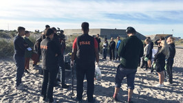 FRAK og Idrætsprojektet oprydder Amager strand