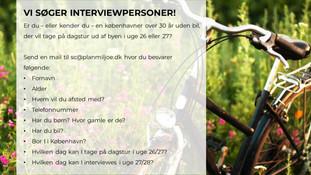 Vi søger interviewpersoner!