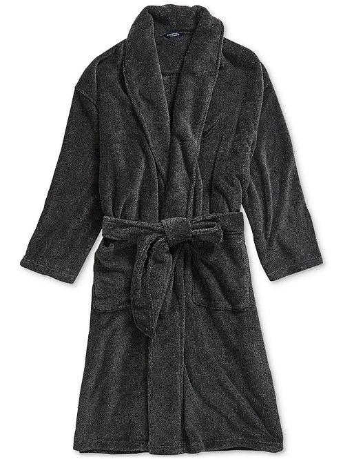 Plush Hooded Bathrobe for Men