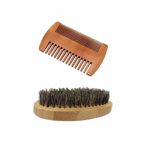 Pocket Beard Comb & Brush Combo