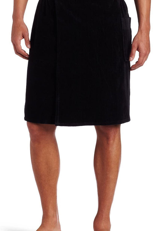 Men's Embroidered Velour Towel Wrap