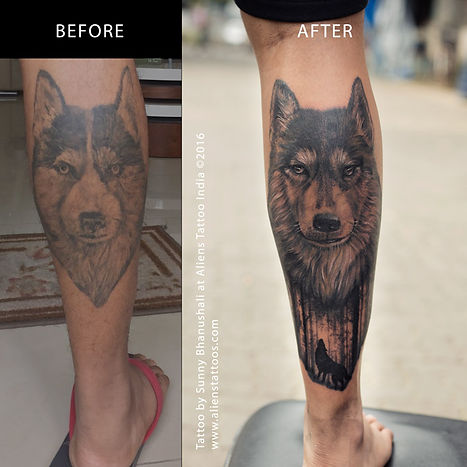 Husky Tattoo Cover up
