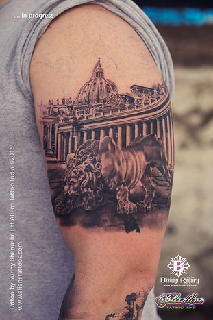 St. Peters Basilica Church Tattoo