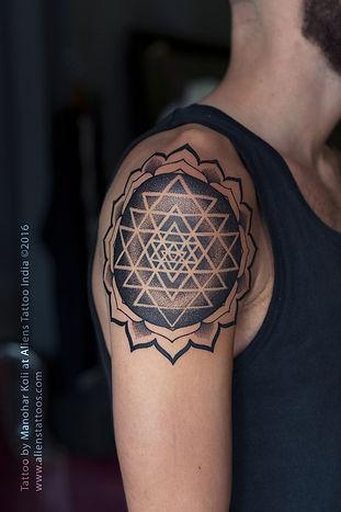 Sri Yantra Mandala Tattoo