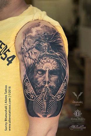 Lord Arjuna Tattoo