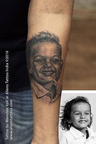 Portrait Tattoo by Manohar Koli