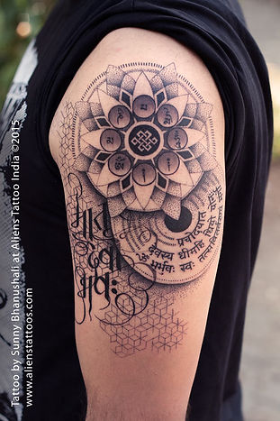 Dotwork Mandala Tattoo