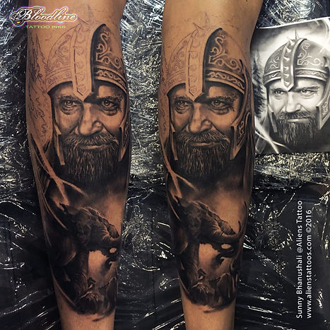 Medieval Warrior Tattoo