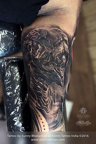 Mechanical Alien Tattoo
