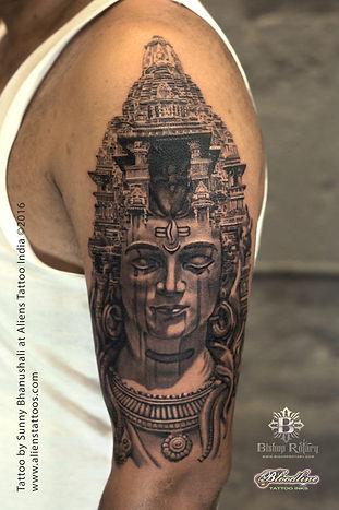 Temple of Lord Shiva Tattoo