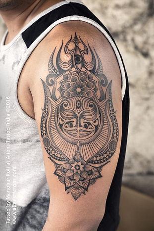 Line Art (Maori Style) Tattoo