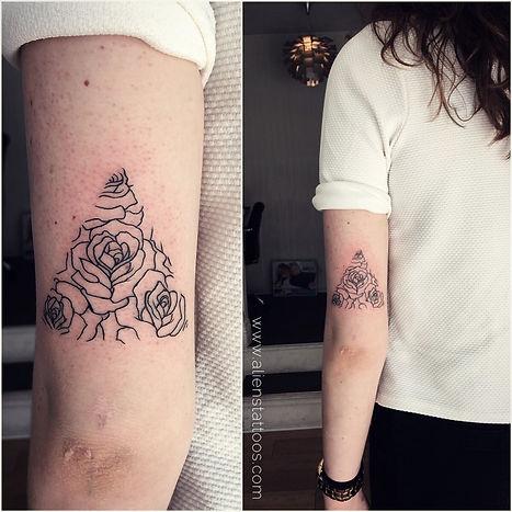 Dainty Roses Tattoo
