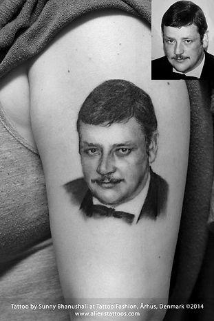 Father Portrait Tattoo