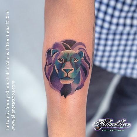 Watercolour Lion Tattoo