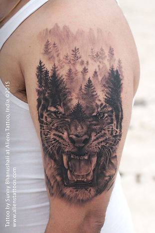 Ferocious Tiger Tattoo