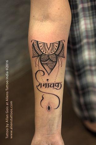Henna Tattoo with Script