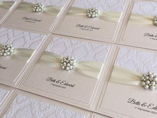 Wedding stationery for Beth & Ed
