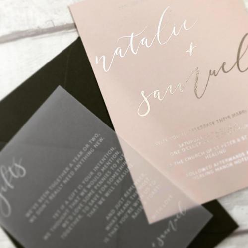 Classic wedding invitaition - modern foi