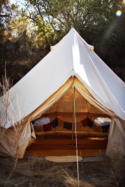 Bell tent relax area