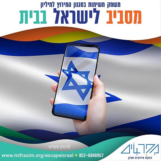 מסביב לישראל בבית- משחק בסגנון המירוץ למליון בבית