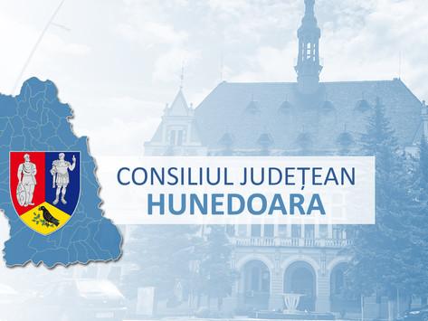 Consiliul Județean Hunedoara este convocat în ședință extraordinară cu urmatoarea ordine de zi: