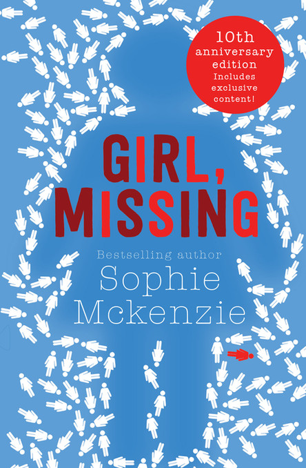 10th Anniversary cover of 'Girl, Missing' by Sophie McKenzie.