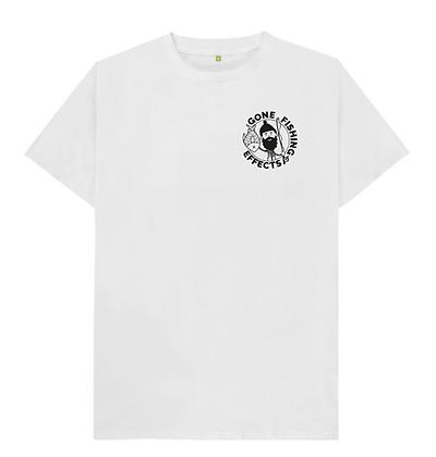Original Gone Fishing Effects White T Shirt