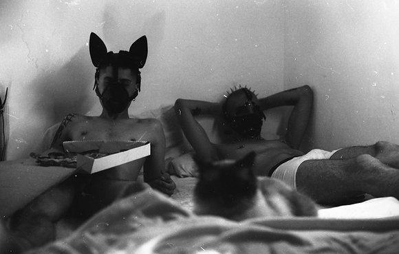 S.T. (cachorros en la cama)