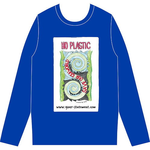 "Sweatshirt ""No plastic"""