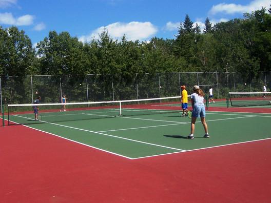 Tennis court riding mountain national park