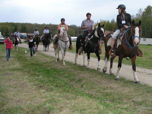 Horseback riding riding mountain national park
