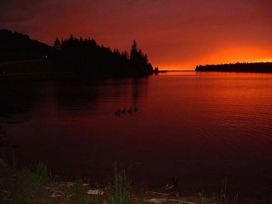 Sunset in Clear Lake Manitoba