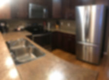 Geiler Corner Kitchen in Cabin 2 - Wasagaming Manitoba - clear lake cabin rentals - 3 bedroom