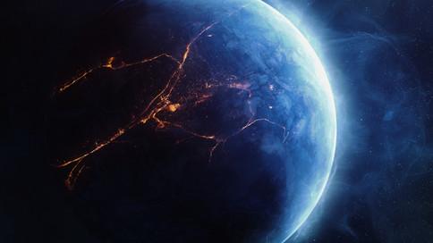Blue Lava Planet