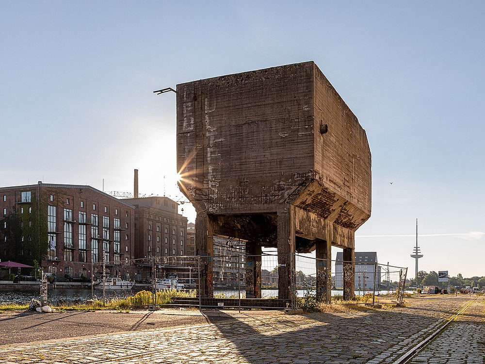 """Dietmar Rabich / Wikimedia Commons / """"Münster, Hafen, ehem. Schüttvorrichtung -- 2020 -- 8064"""" / CC BY-SA 4.0"""