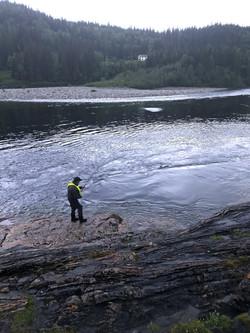Fishing from Naustberget