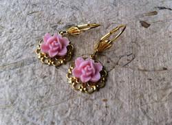 Boucles d'oreilles Rose Rose